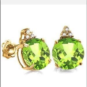 Jewelry - 2.0 CARAT PERIDOT 10K SOLID YELLOW GOLD ROUND